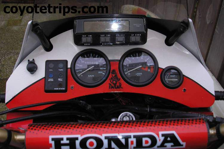 dashboard for honda xrv650 xrv750 africa twin. Black Bedroom Furniture Sets. Home Design Ideas