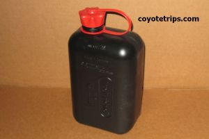Motorcycle and ATV Spare Gas Can